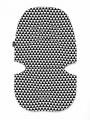Podložka do kočárku Womar bílo-černá