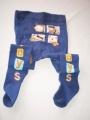 Punčocháčky bavlněné tmavě modré různé obrázky vel.68 (4-6m) YO Company
