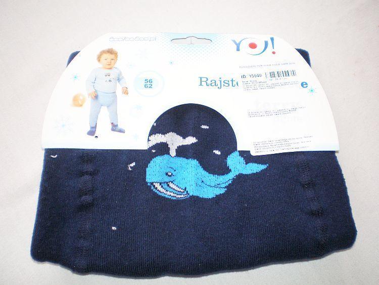 Punčocháčky froté tmavě modré různé obrázky vel.56/62 YO Company