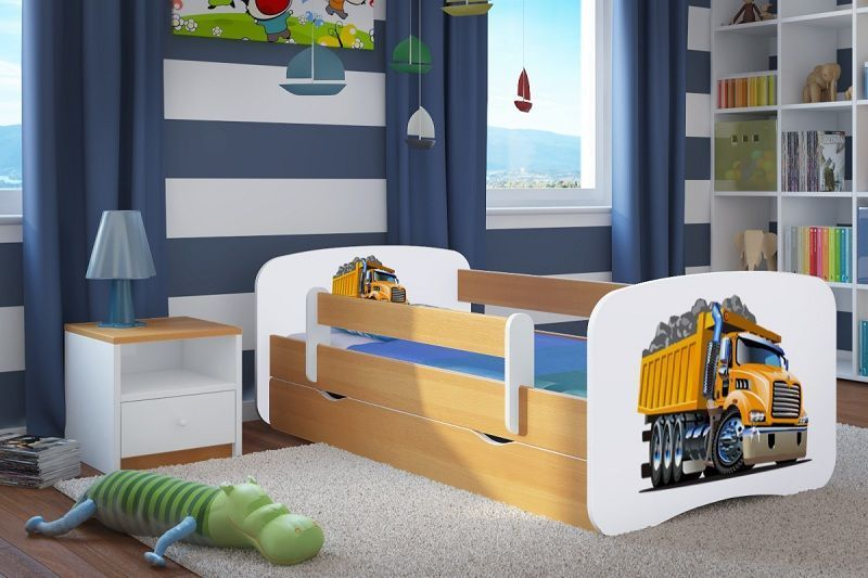 Dětská postel se zábranou a úložným prostorem 180 x 80 - Náklaďák Ourbaby