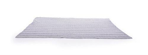 Pletená deka Square - tmavě šedá Monza