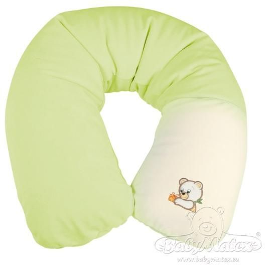 Baby Matex RELAX Medvídek plyš kojící polštář 170 cm - zelený