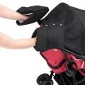 Kiddy rukávník s fleecem na rukojeť kočárku 1 pár Racing Black