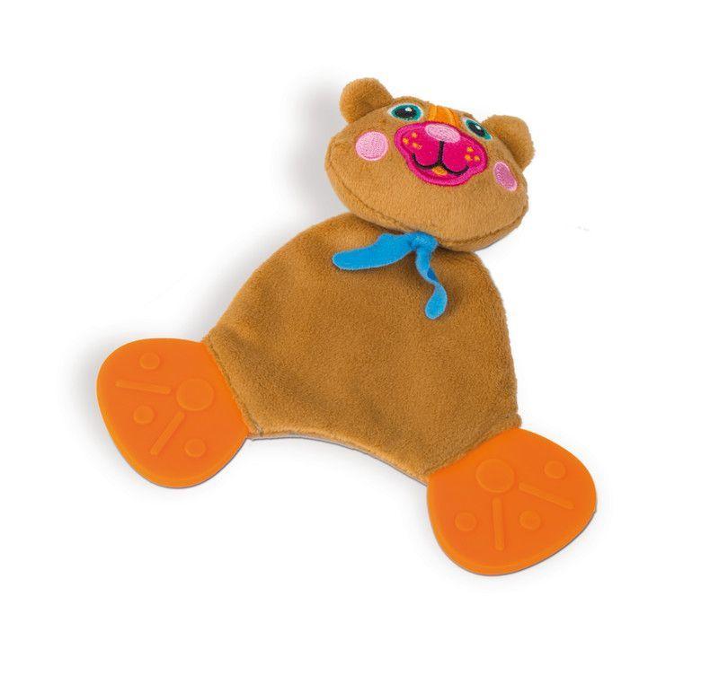 O-OOPS Easy-Doudou Friends! - Zvířecí kousátka Medvěd O-OOPS Přátelskýa krásně barevný utěšitel skousátkyod známé značky O-OOPS ze Švýcarska. . Výborný