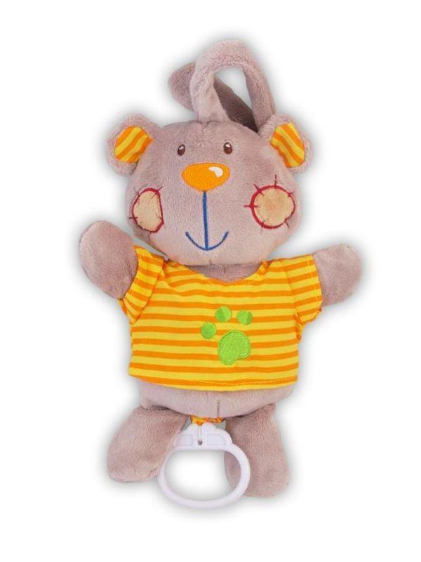 Plyšová hračka s hracím strojkem Baby Mix Medvídek